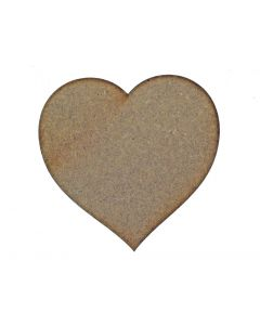 Hearts  MDF Laser Cut Craft Blanks in Various Sizes