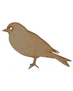 Bird (Design 1) MDF Laser Cut Craft Blanks in Various Sizes