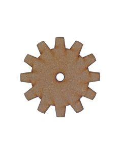 Gear (Design 1) MDF Laser Cut Craft Blanks in Various Sizes