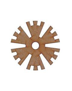 Gear (Design 3) MDF Laser Cut Craft Blanks in Various Sizes