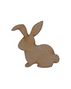 Rabbit MDF Laser Cut Craft Blanks in Various Sizes