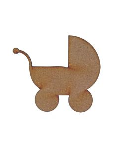 Baby Carriage MDF Laser Cut Craft Blanks in Various Sizes