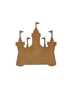 Castle MDF Laser Cut Craft Blanks in Various Sizes