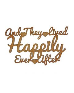 Quotes: Happily Ever After (150mm x 92mm)