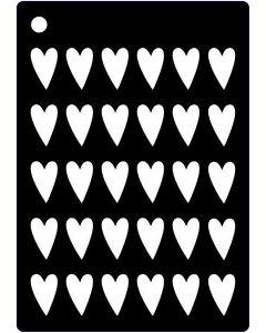 Creative Expression Mini Stencil Arty Hearts