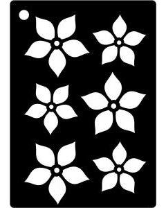 Creative Expressions Mini Stencil Poinsettia