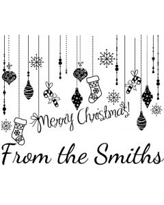 Personalised Christmas Stamp - Hanging Ornaments