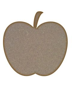 Apple MDF Laser Cut Craft Blanks in Various Sizes