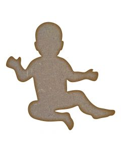 Baby MDF Laser Cut Craft Blanks in Various Sizes