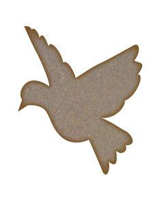 Bird (Design 4) MDF Laser Cut Craft Blanks in Various Sizes