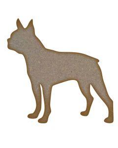 Boston Terrier Dog MDF Laser Cut Craft Blanks in Various Sizes