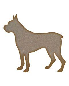 Boxer Dog MDF Laser Cut Craft Blanks in Various Sizes
