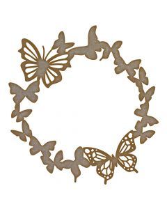 Butterfly Wreath MDF Laser Cut Craft Blanks in Various Sizes