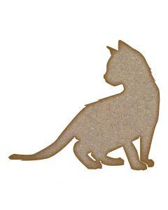 Cat (Design 2) MDF Laser Cut Craft Blanks in Various Sizes