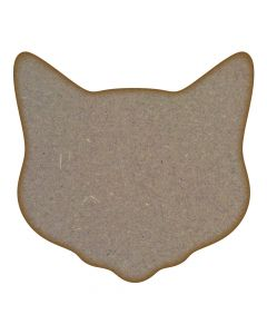 Cat Head MDF Laser Cut Craft Blanks in Various Sizes