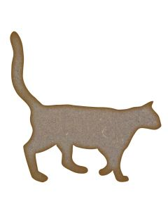 Cat MDF Laser Cut Craft Blanks in Various Sizes