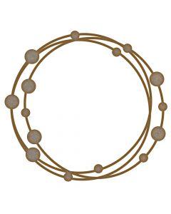 Circle Dot Frame MDF Laser Cut Craft Blanks in Various Sizes