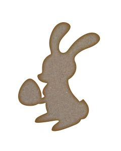 Easter Bunny MDF Laser Cut Craft Blanks in Various Sizes