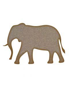 Elephant (Design 3) MDF Laser Cut Craft Blanks in Various Sizes