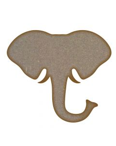 Elephant Head MDF Laser Cut Craft Blanks in Various Sizes