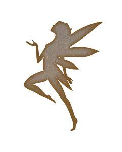 Fairy (Design 1) MDF Laser Cut Craft Blanks in Various Sizes