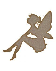 Fairy (Design 7) - MDF Laser Cut Craft Blanks in Various Sizes