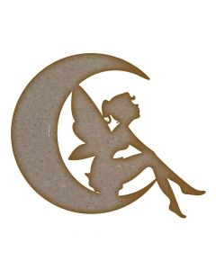 Fairy Moon MDF Laser Cut Craft Blanks in Various Sizes