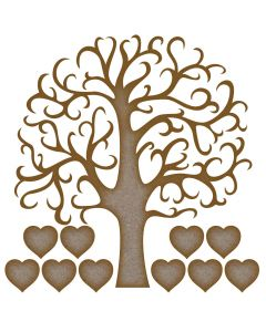 Family Tree MDF Laser Cut Craft Blanks in Various Sizes