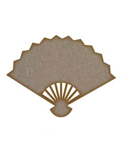 Fan MDF Laser Cut Craft Blanks in Various Sizes
