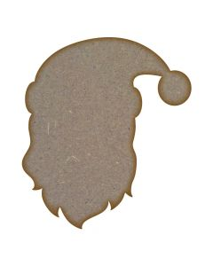 Father Christmas Head MDF Laser Cut Craft Blanks in Various Sizes