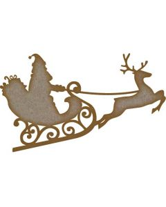 Father Christmas MDF Laser Cut Craft Blanks in Various Sizes