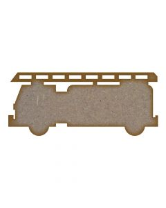 Fire Truck MDF Laser Cut Craft Blanks in Various Sizes