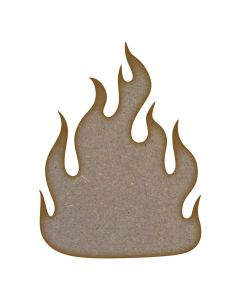 Fire MDF Laser Cut Craft Blanks in Various Sizes