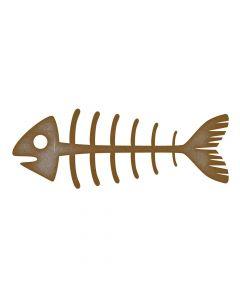 Fish Skeleton MDF Laser Cut Craft Blanks in Various Sizes