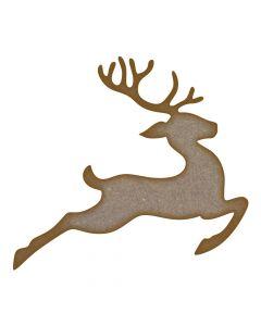 Flying Reindeer MDF Laser Cut Craft Blanks in Various Sizes
