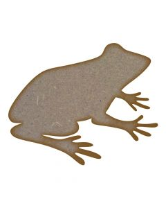 Frog (Design 2) MDF Laser Cut Craft Blanks in Various Sizes