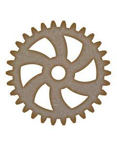 Gear (Design 4) MDF Laser Cut Craft Blanks in Various Sizes