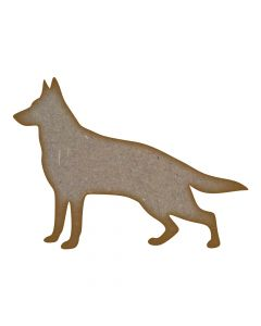 German Shepherd Dog MDF Laser Cut Craft Blanks in Various Sizes