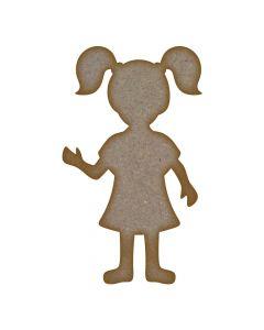Girl (Design 3) MDF Laser Cut Craft Blanks in Various Sizes
