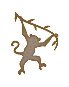 Hanging Monkey MDF Laser Cut Craft Blanks in Various Sizes