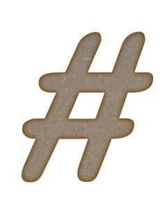 Hashtag (123mm x 140mm)