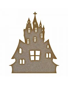 Haunted House - MDF Laser Cut Craft Blanks in Various Sizes