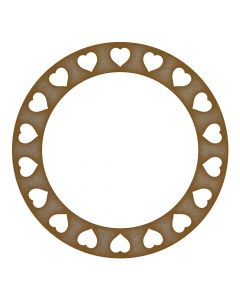heart circle frame MDF Laser Cut Craft Blanks in Various Sizes