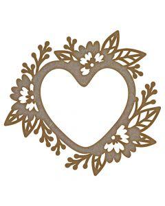 Heart Flower Frame MDF Laser Cut Craft Blanks in Various Sizes
