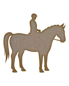 Horse and Rider MDF Laser Cut Craft Blanks in Various Sizes