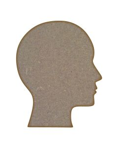 Human Head MDF Laser Cut Craft Blanks in Various Sizes