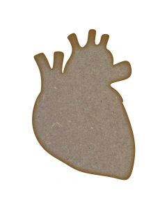 Human Heart MDF Laser Cut Craft Blanks in Various Sizes