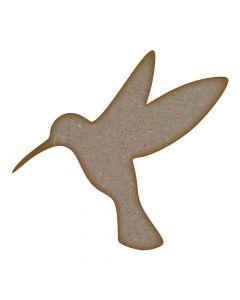Humming Bird MDF Laser Cut Craft Blanks in Various Sizes