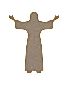 Jesus MDF Laser Cut Craft Blanks in Various Sizes
