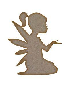 Kneeling Fairy MDF Laser Cut Craft Blanks in Various Sizes